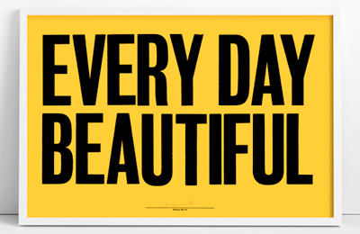 Anthony Burrill Woodblock Prints @ Beach London