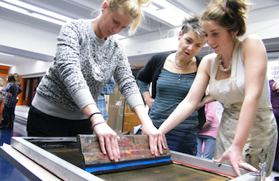 Josie Molloy- Live screen printing at Museum of London