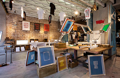 Live Print Workshop :: Regent St. Levi's