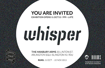 'Whisper' – An Exhibition by Mr.Gresty
