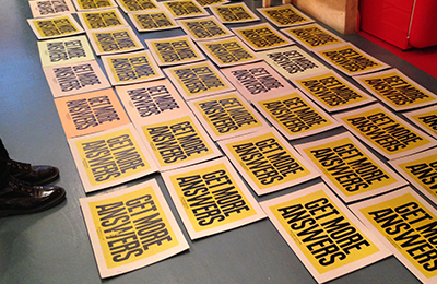 People of Print :: Live Printing for Anthony Burrill at KK Outlet