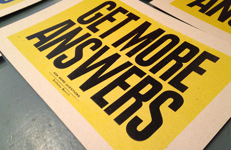 Anthony Burrill x People of Print at KK Outlet