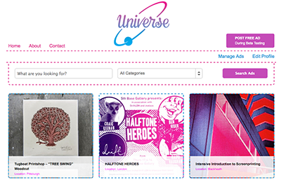 Universe :: A Gumtree-like Platform for Creatives