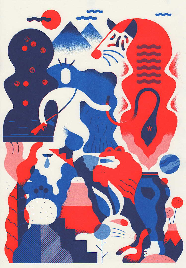 Posters Till Kok : Exquisite Corpse  People of Print