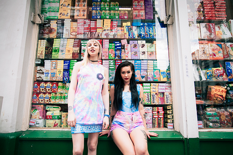 @kittycowell and @_hannahdaisy wear Jennifer Hope Clothing