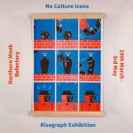 No Culture Icons Risograph Exhibition