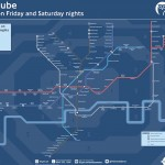 Night-Time Tube Map by TFL