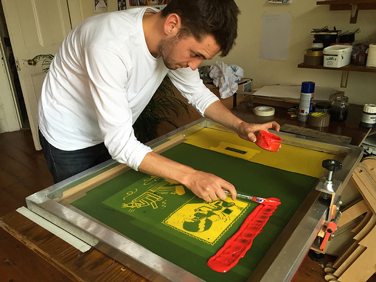 Lawrence Slater DIY Screen Print London