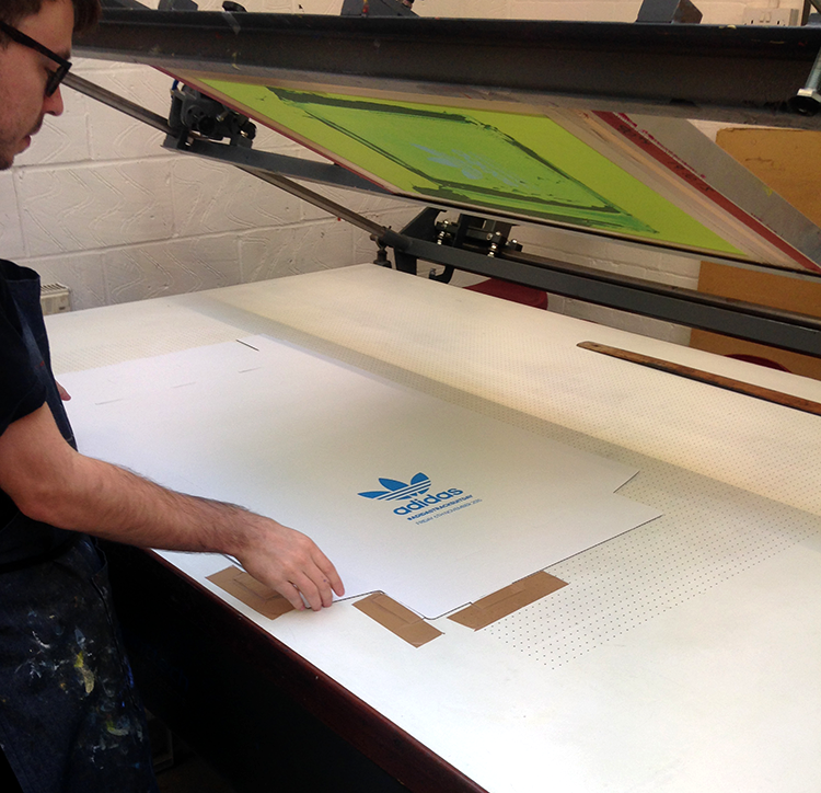 Adidas Screen Printing East London Printmakers
