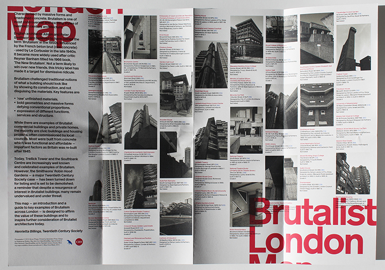 Brutalist Map London