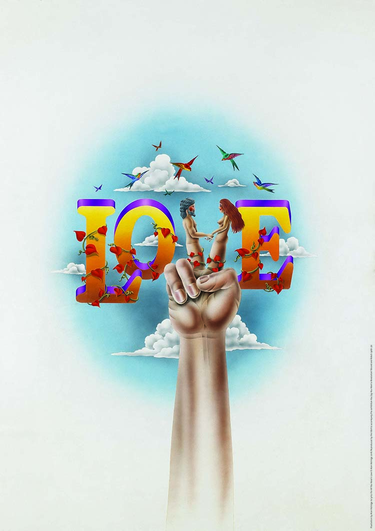 Love Print, Illustration by Alan Aldridge £45