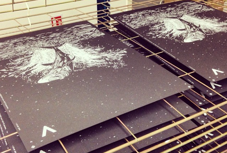 how to print on black paper