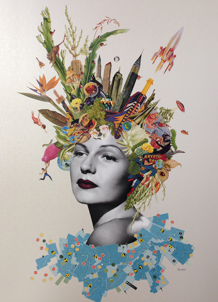 Maria Rivans Collage Print brighton