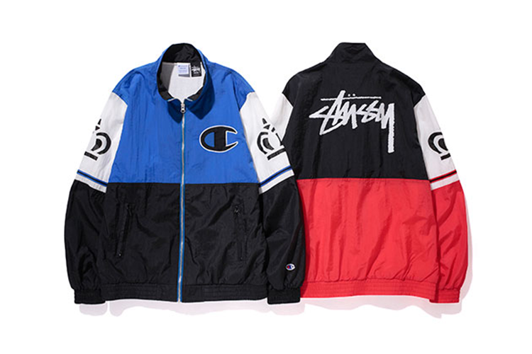 435d89e03a73 Streetwear icons Stussy have recently teamed up with classic American  sportswear brand Champion for a bold collection this spring. Presenting the  Kings warm ...