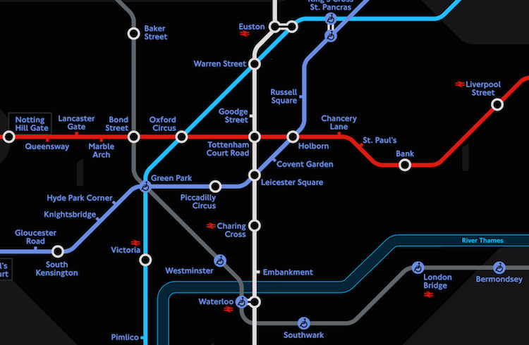 Night Time Tube Map By Tfl People Of Print