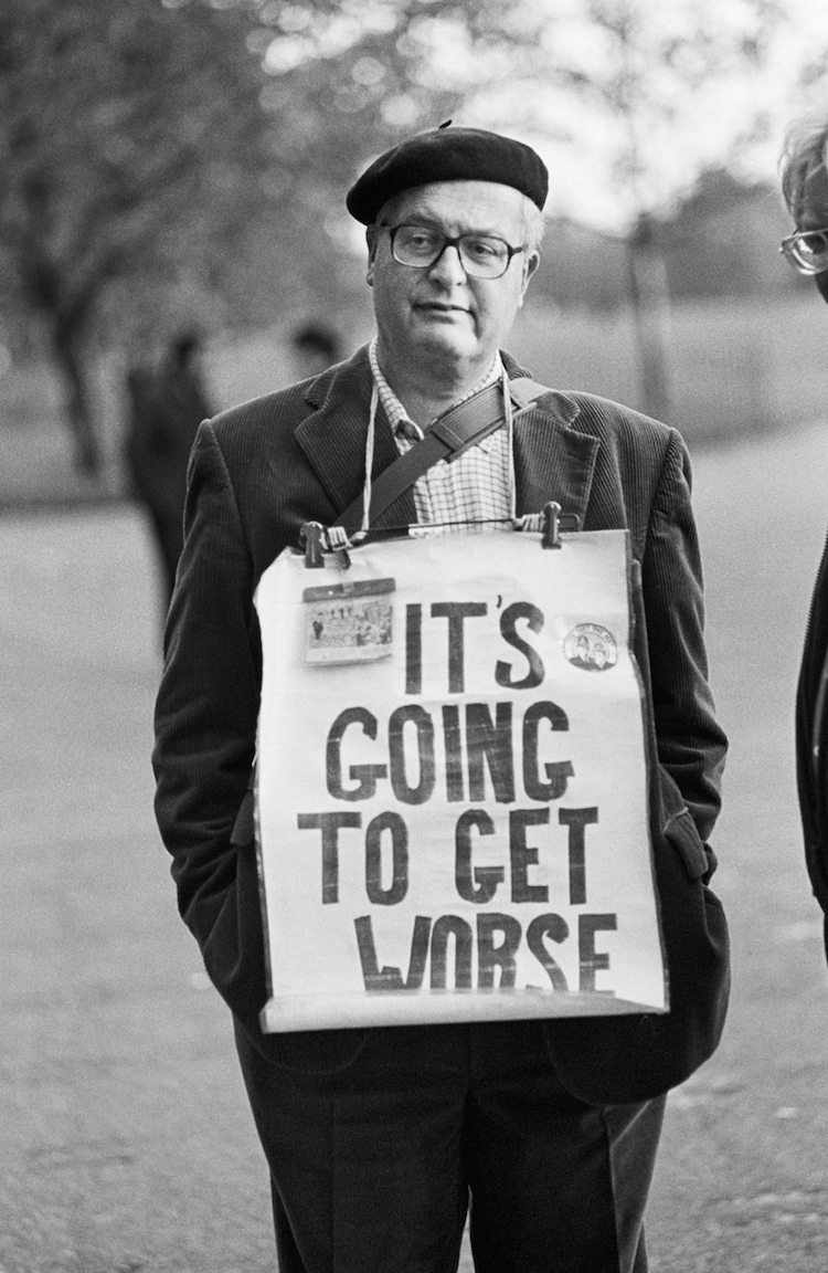 Bob Rogers: It's Going to Get Worse, Speakers' Corner, Hyde Park, London..  | People of Print