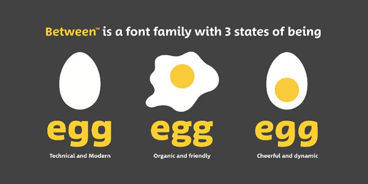 Monotype Between typeface