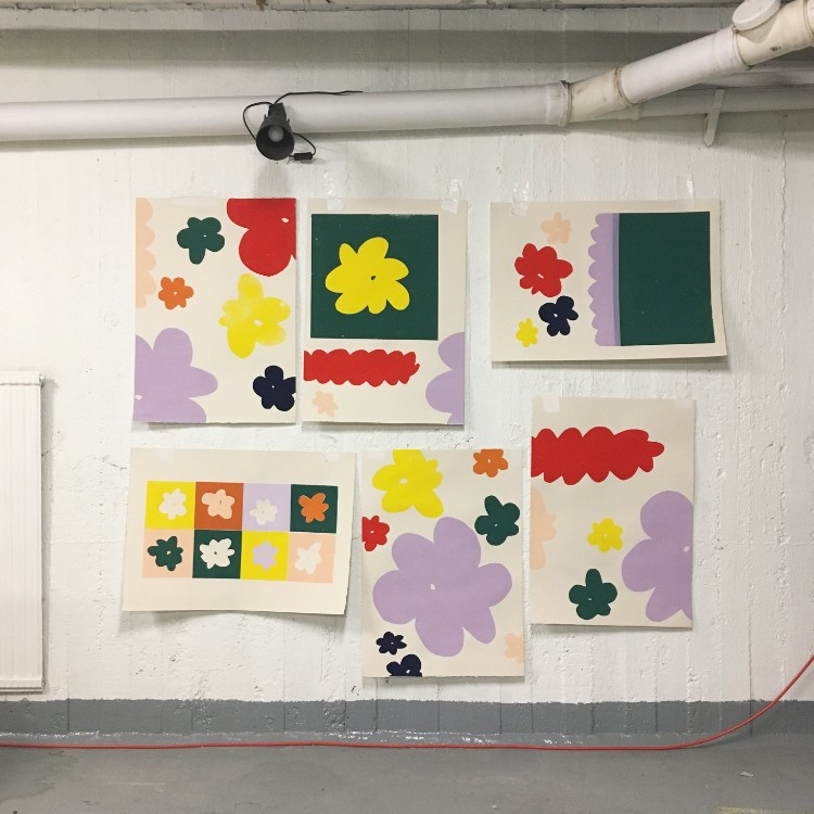 Katherine Fell In Love With Screen Printing Whilst Studying Textile Design  At Uni. She Produces Most Of Her Artworks For The Screen With Hand Cut  Paper, ...